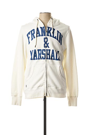 Gilet manches longues blanc FRANKLIN MARSHALL pour homme