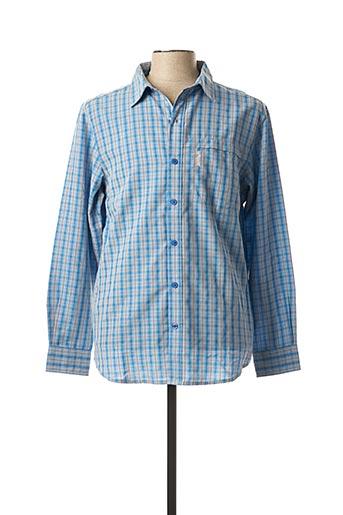 Chemise manches longues bleu COLUMBIA pour homme