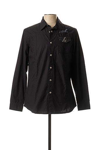 Chemise manches longues noir ENERGIE pour homme