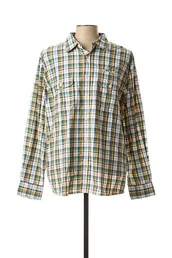 Chemise manches longues vert AIGLE pour homme