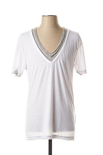 T-shirt manches courtes blanc ELEVEN COLORS pour homme