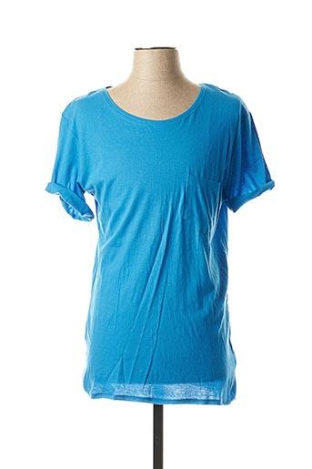 T-shirt manches courtes bleu ELEVEN PARIS pour homme