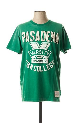 T-shirt manches courtes vert FRANKLIN MARSHALL pour homme