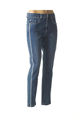 Jeans skinny bleu ANNA MONTANA pour femme