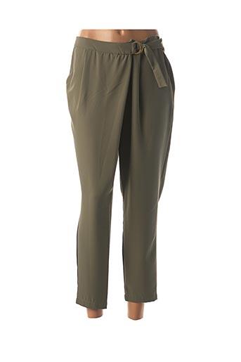 Pantalon 7/8 vert SEE THE MOON pour femme