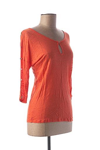 T-shirt manches longues orange LE BOUDOIR D'EDOUARD pour femme