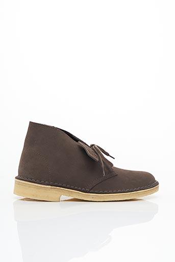 Bottines/Boots marron CLARKS pour garçon