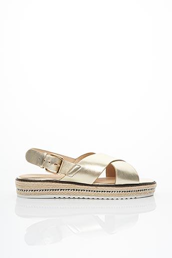 Sandales/Nu pieds jaune COSMOPARIS pour femme