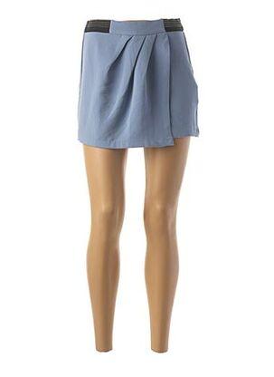 Jupe short bleu MORGAN pour femme