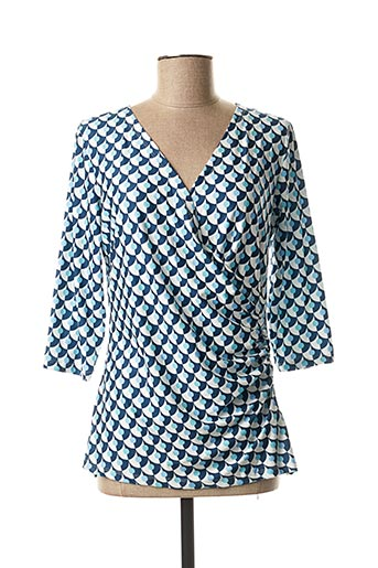 T-shirt manches longues bleu SMASHED LEMON pour femme