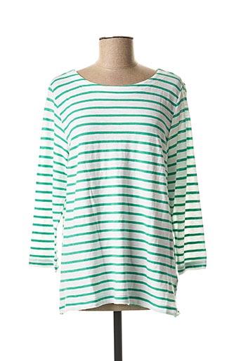 T-shirt manches longues vert TIMEZONE pour femme