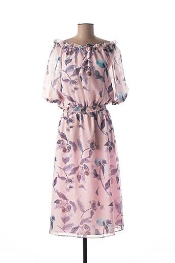 Robe mi-longue rose MEXX pour femme