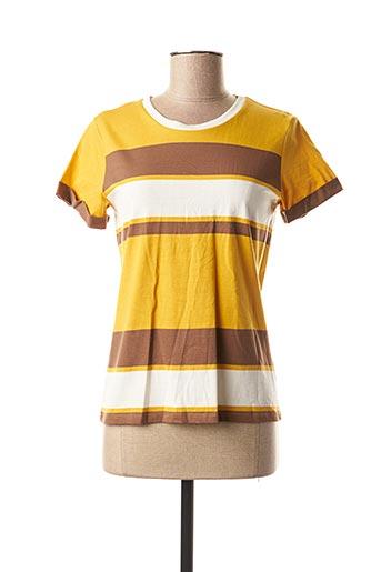 T-shirt manches courtes jaune MEXX pour femme