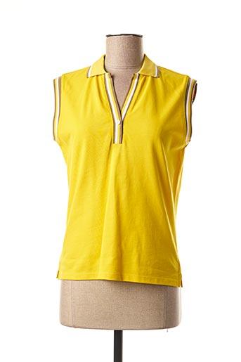 Polo manches courtes jaune MEXX pour femme