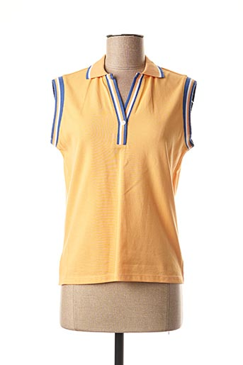 Polo manches courtes orange MEXX pour femme