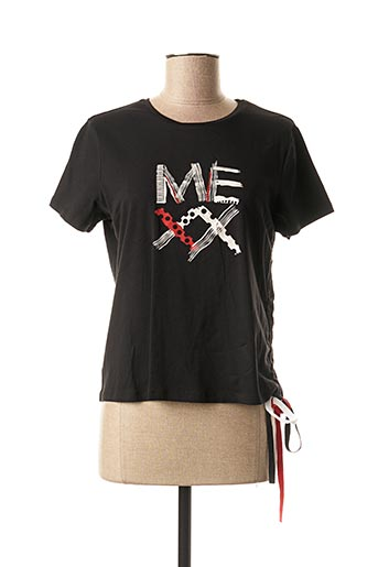 T-shirt manches courtes noir MEXX pour femme