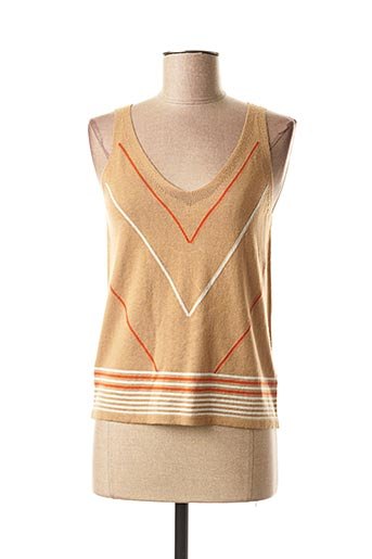 Pull col V beige MEXX pour femme
