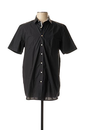 Chemise manches courtes noir MEXX pour homme