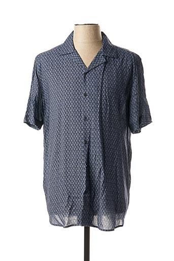 Chemise manches courtes bleu MEXX pour homme