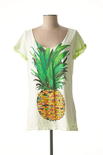 T-shirt manches courtes vert AMERICAN OUTFITTERS pour femme