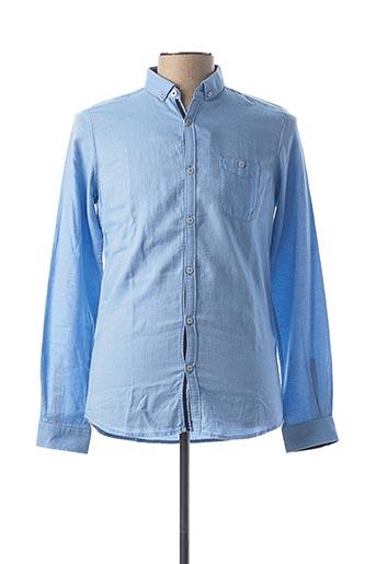 Chemise manches longues bleu TOM TAILOR pour homme