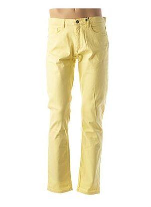 Pantalon chic jaune CARNET DE VOL pour homme
