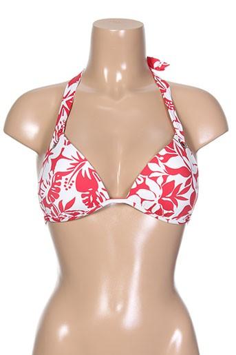 Haut de maillot de bain rouge KIWI pour femme