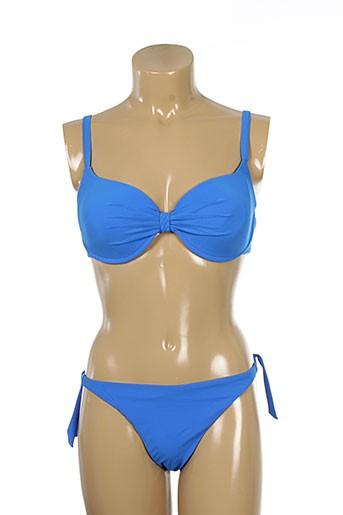 Maillot de bain 2 pièces bleu JOLIDON pour femme