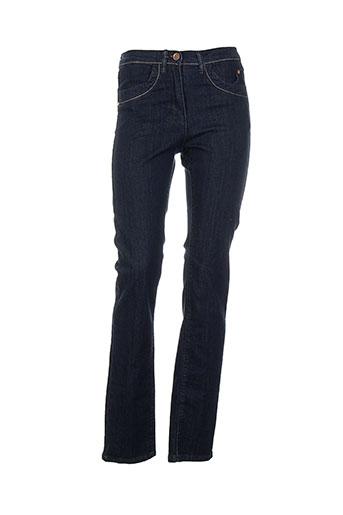 Jeans coupe droite bleu AZAY JEANS pour femme