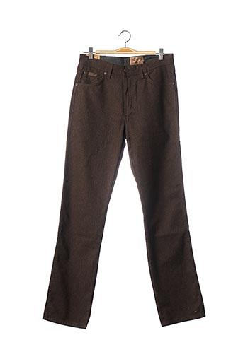 Jeans coupe droite marron WRANGLER pour homme