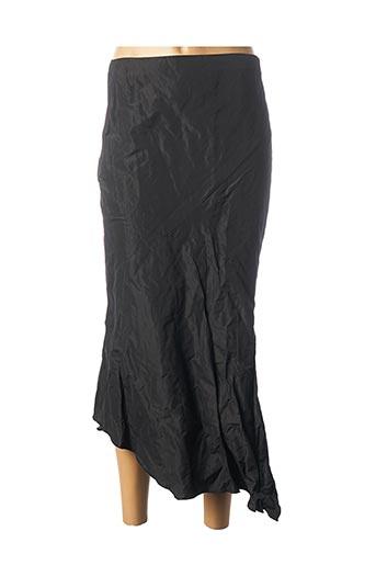 Jupe mi-longue noir LINEA RAFFAELLI pour femme