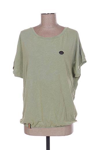 T-shirt manches courtes vert FULL BLUE pour femme