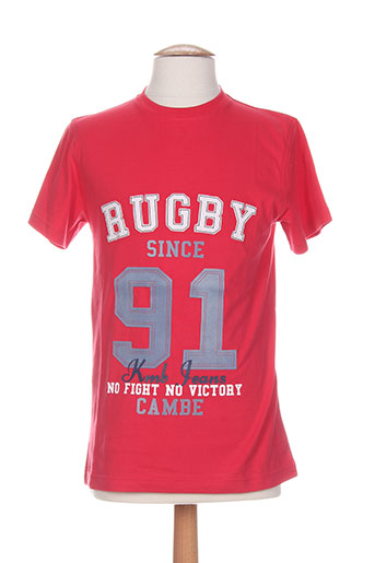 T-shirt manches courtes rouge CAMBE pour homme