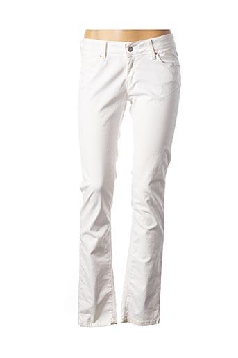 Pantalon casual blanc CHEFDEVILLE pour femme