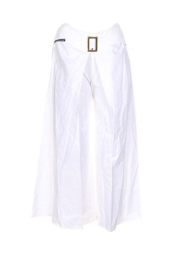 Pantalon casual blanc DES FILLES A LA VANILLE pour femme