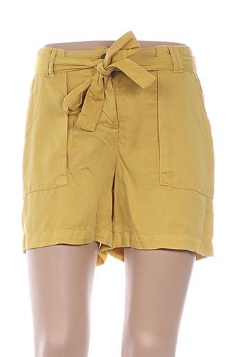 Short jaune CARLA KOPS pour femme