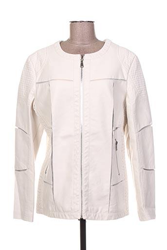 Veste simili cuir blanc JUPITER pour femme