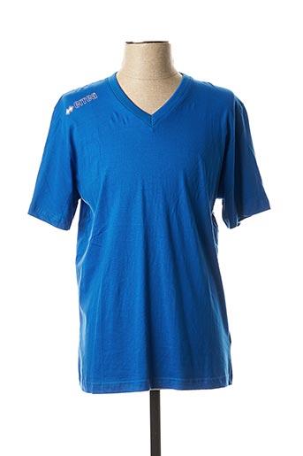 T-shirt manches courtes bleu ERREA pour homme