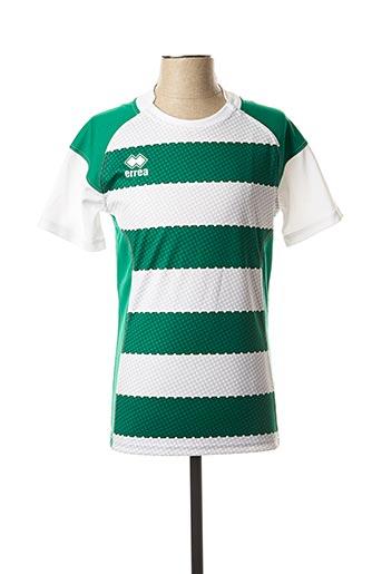 T-shirt manches courtes vert ERREA pour homme