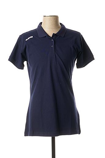 Polo manches courtes bleu ERREA pour homme