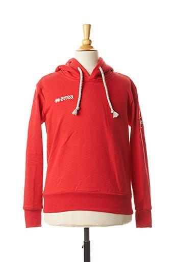Sweat-shirt rouge ERREA pour garçon