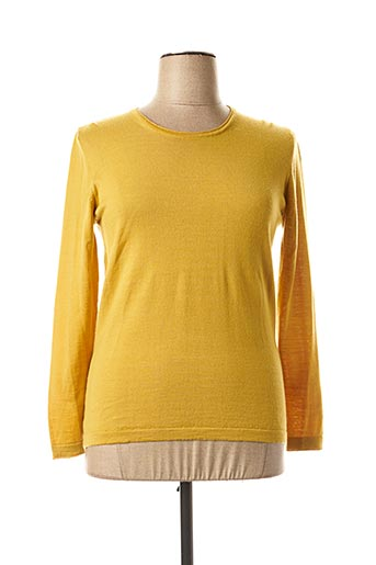 Pull col rond jaune WEINBERG pour femme
