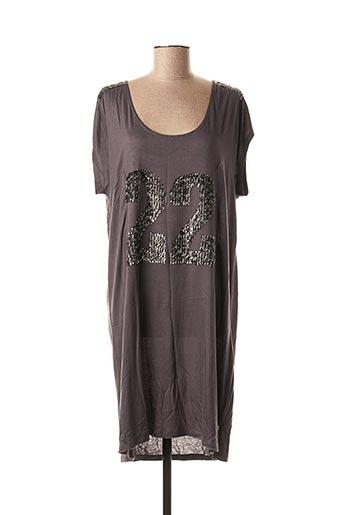 Robe mi-longue gris MISMASH pour femme