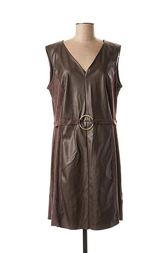 Robe mi-longue marron JULIE GUERLANDE pour femme