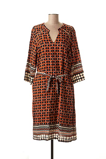Robe mi-longue orange FRED SABATIER pour femme