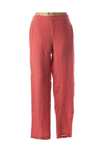 Pantalon casual rouge AGATHE & LOUISE pour femme