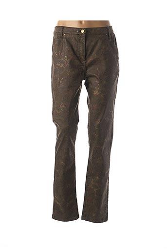 Pantalon casual vert JULIE GUERLANDE pour femme