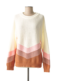 Pull col rond blanc ROXY pour femme