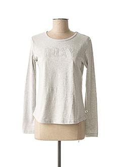 T-shirt manches longues gris ROXY pour femme