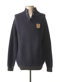Pull col cheminée bleu OXBOW pour homme